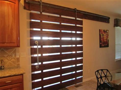 Best Window Covering For Kitchen by Modern Take On The Barn Door Look