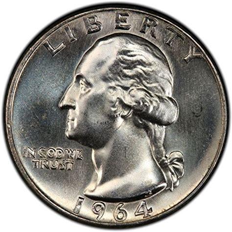 silver quarter 1964 d unc bu washington silver quarter dollar denver mint liberty 25c quarter brilliant