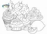 Coloring Coulerings Cupcake Cupcakes Sheets sketch template