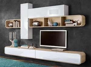 Meuble tv mural de decoration murale de la maison for Deco cuisine pour meuble tv suspendu