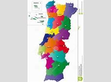 Carte du Portugal illustration de vecteur Image du
