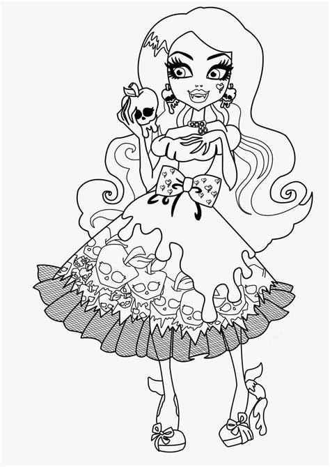 coloring pages monster high coloring pages   printable