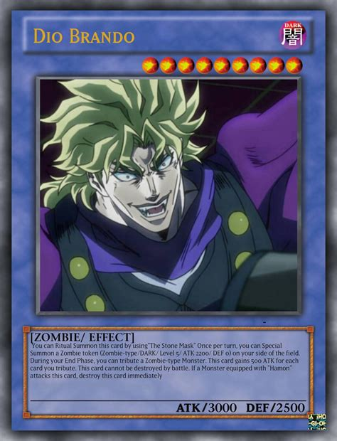 Yu Gi Oh Card Memes - dio brando as a yu gi oh card by playmaster96 on deviantart