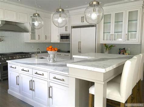 shaped breakfast bar transitional kitchen