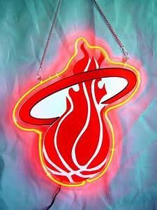 AC15 NBA Miami Heat Basketball Neon Light Sign 10 x 8