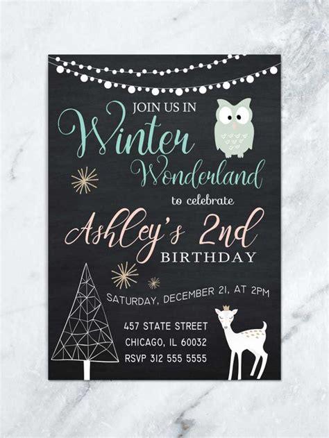 winter wonderland invitation winter onederland invitation