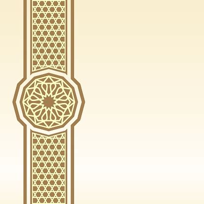 islamic border background  greeting stock illustration