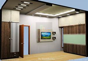 Master Bedroom TV Unit and False Ceiling
