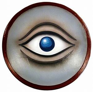Round Wooden Greek Eye Shield  Trojan  Spartan
