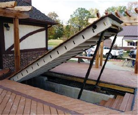 eye  design engineering  winch powered hatch professional deck builder basement