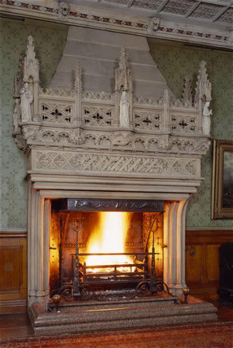 monumental gothic fireplace  tyntesfield designed