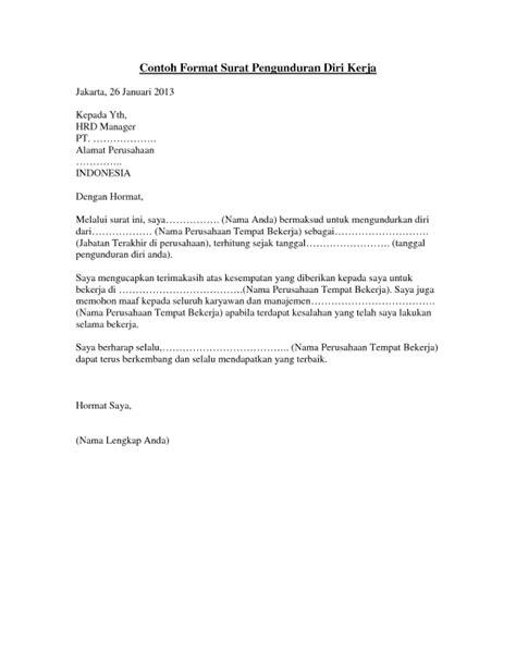 15 macam contoh surat pengunduran diri dengan sopan dan benar