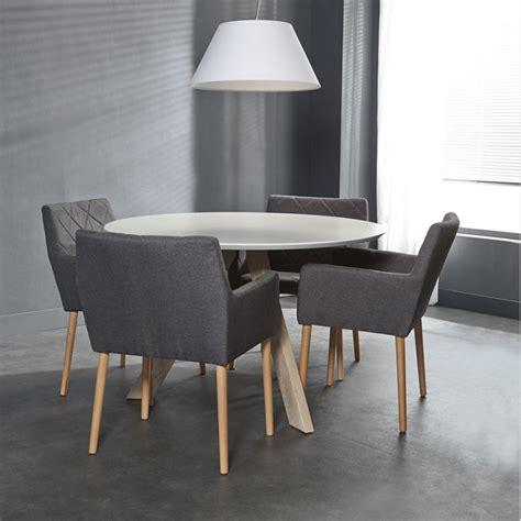 cuisine avec bar table meuble table a manger moderne ronde laquée blanc pas cher