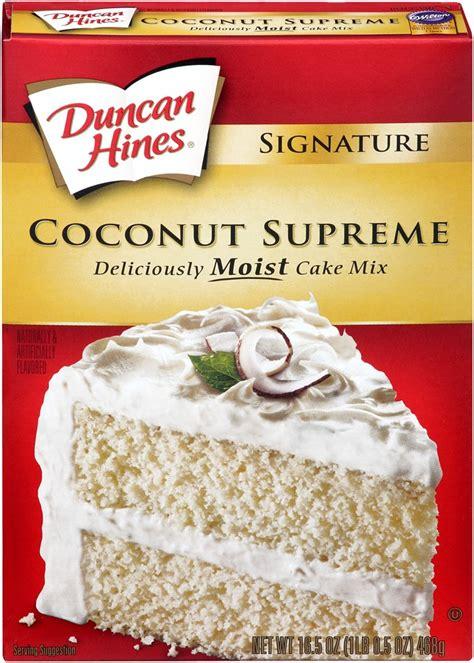 duncan hines signature cake mix coconut supreme  oz