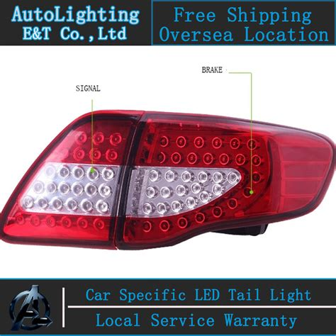 2010 toyota corolla tail light cover shipping option led tail light for toyota corolla tail
