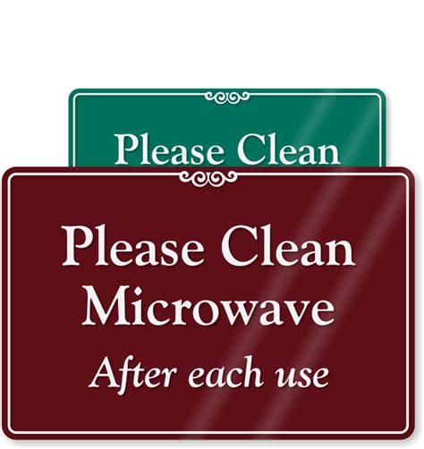 clean microwave    sign