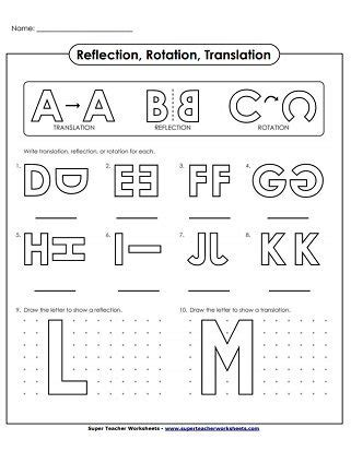 translate reflection rotation alphabet geometry