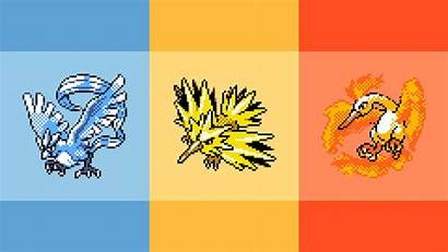 Pokemon Legendary Wallpapers Retro Background Yellow 1080