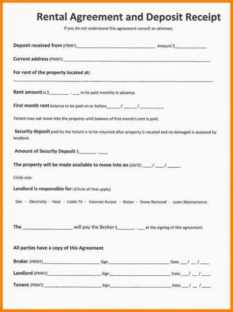 simple  page lease agreement template business