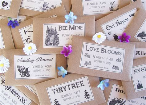 wedding favor seeds flower seed favors  fairylandbazaar