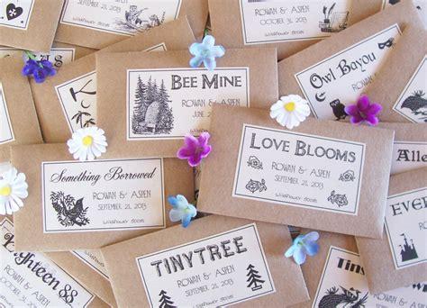 wedding favor seeds flower seed favors  fairylandbazaar