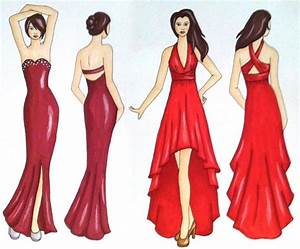 Prom dress sketches/illustrations | Fashion Designer ...