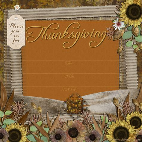 printable party invitations thanksgiving dinner
