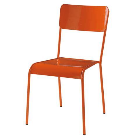 chaises orange chaise orange edison maisons du monde