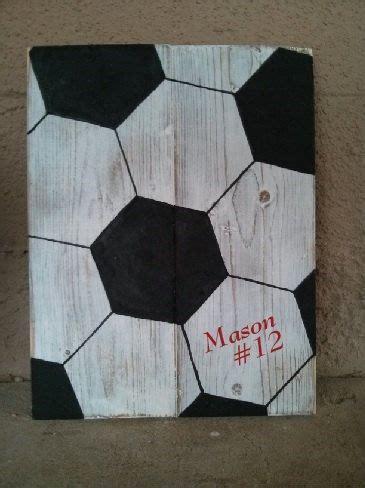 customized handmade wooden soccer ball sign