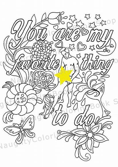 Funny Coloring Pages Adult Valentine Naughty Boyfriend