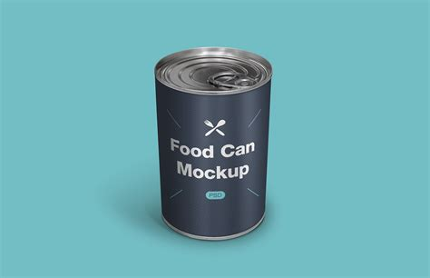 Food Can Psd Mockup