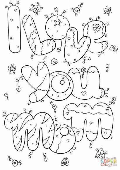 Coloring Mom Pages Printable Drawing Paper
