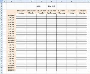 4 weekly hourly calendar ganttchart template With hourly gantt chart excel template
