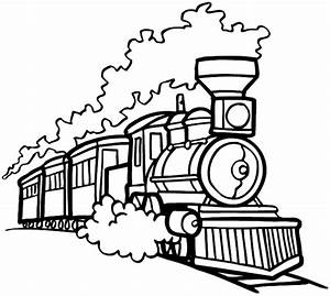 Train Line Drawing - ClipArt Best
