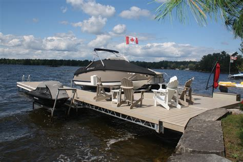 Boat Lift Out Of Water by Aluminum Lift Up Lift Up Step Docks R J Machine