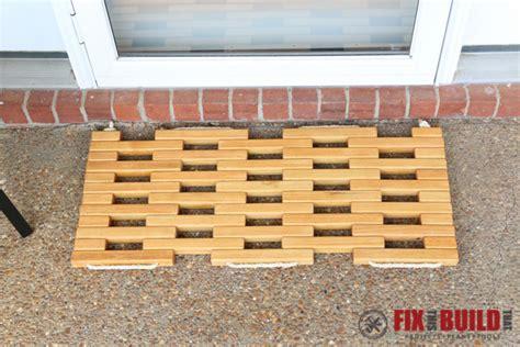 wooden doormat diy wooden doormat fixthisbuildthat
