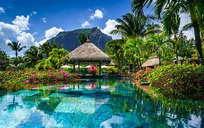 Mauritius Tropical Landscape Hotel Pool Island Swimming