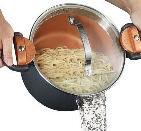 gotham steel nonstick multi pasta pot  built  easy lock strainer lid  ebay