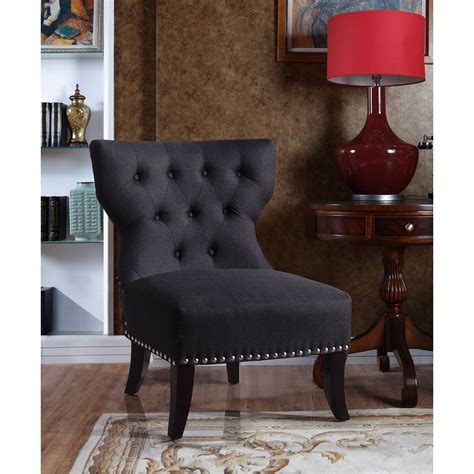 furniture kitchener waterloo waterloo charcoal tufted accent chair overstock