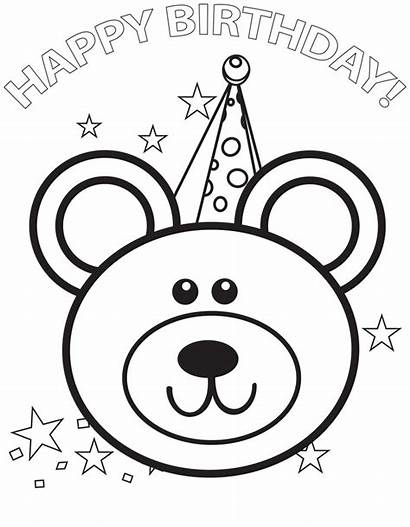 Birthday Coloring Happy Pages Printable Mom Cards