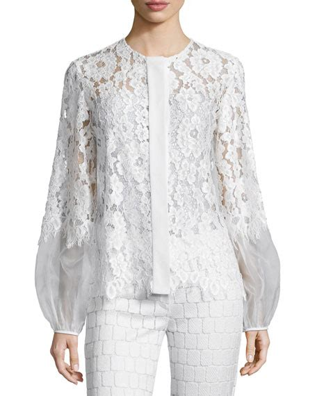 lace blouse sue sleeve lace blouse white neiman