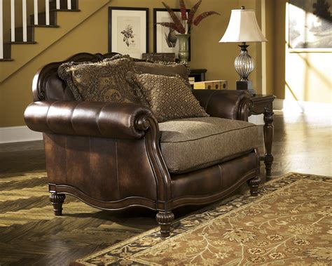 claremore antique chair and a half by ashley furniture