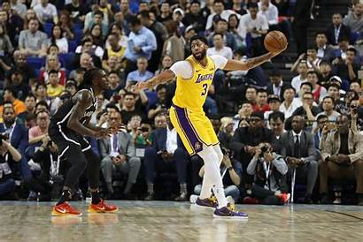 Lakers Nets Brooklyn Preseason Angeles Vs Davis
