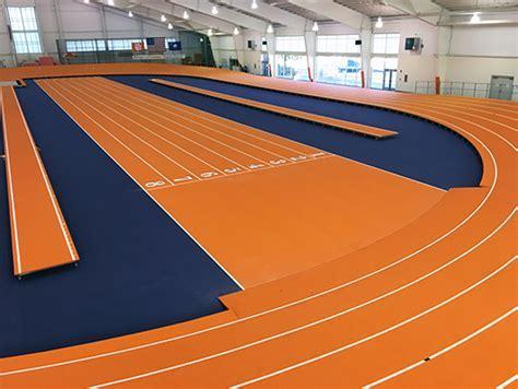 Clemson University   new banked indoor track with Mondo