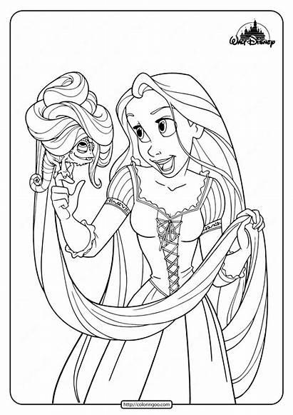 Rapunzel Coloring Printable Pet Pascal Disney Princess