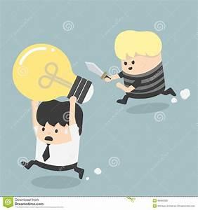 Thief Stealing Idea Businessman Stock Vector - Image: 44050329