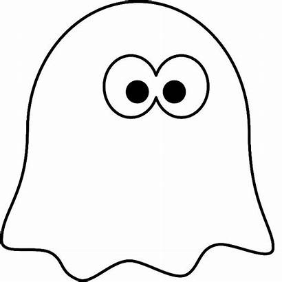 Ghost Coloring Pages Cartoon Halloween Printable Spooky
