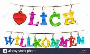 Herzlich Willkommen Bilder Zum Ausdrucken : herzlich willkommen welcome schild in deutsch mit der symbolischen roten herzen und buchstaben ~ Eleganceandgraceweddings.com Haus und Dekorationen