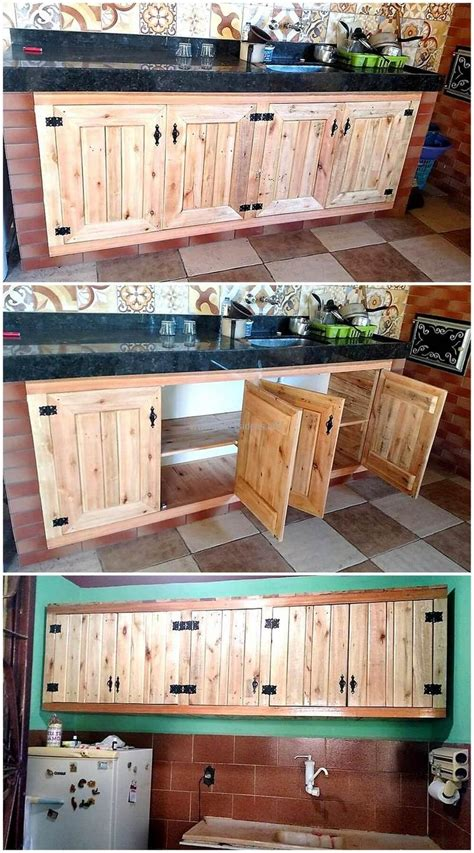 wooden pallet kitchen cabinets 80 ideas for wood pallet made kitchens diy motive part 4