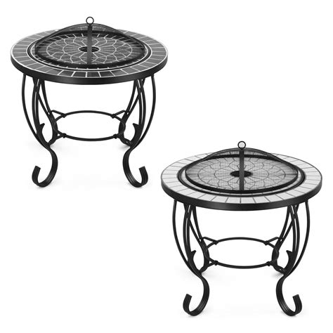 patio coffee table with pit vonhaus mosaic pit coffee table garden brazier bbq